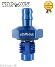 """8mm Barbed Rollover Vertical Vent Valve 9/16"""" UNF Male Tank Mounted"""