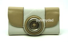 MIMCO LUSTRE BUTTON LEATHER WALLET IN WHITE BNWT RRP$169
