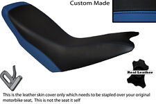 ROYAL BLUE & BLACK CUSTOM FITS APRILIA ETX 125 DUAL LEATHER SEAT COVER ONLY
