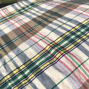 Ralph Lauren BOATHOUSE Madras Plaid TWIN Bed Skirt I 100% Cotton I Lake Lodge
