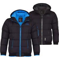 Spindle Boys Padded Winter Coat School Hooded Fleece Lined Jacket Zip Pockets