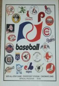 1970 MLB All Star Game Poster - Riverfront Stadium Cincinnati - Pete Rose