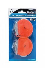 2 Pack Buckled Straps Tie Down Lashing Cam Buckle Roof Rack 25mm 4.5m cars, t...