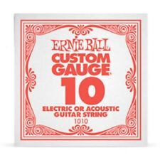 Ernie Ball .010 Custom Gauge Guitar Single Strings Electric or Acoustic Pack 6