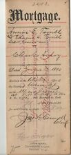 1890 RAHWAY  NJ ESSEX COUNTY NJ INDENTURE MORTGAGE  DOCUMENT LETTER