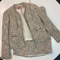 Cato Women's Workwear Set Size 10 and 6 Skirt and Blazer Jacket 2 Piece Suit