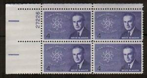 1200 MNH OG Plate Block of 4 1962 4c Brian McMahon Atomic Energy $0 US Shipping