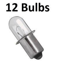 (12) Makita A-90261 Flashlight Replacement Bulb 18 Volt