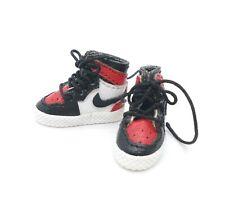 AJ1 Red & White Sneakers for Marvel Legends Mezco TBLeague (No Figure)