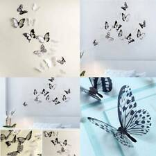 18 Pcs 3d Butterfly Wall Stickers Removable Art Decal Craft Mural Home Decor CS