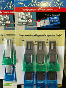 Taylor Seville 'Magic Clips' Sew Over with Precise Measurements 6 Pack Big/Small