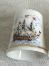 Fingerhut- maritim- Schiff- Kogge Motiv 1- Porzellan- deutsches Produktdesign