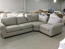 Pottery Barn Comfort Roll Arm Upholstered Sectional Loveseat Chair sofa Linen
