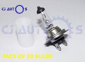 20x H7 HEAD LAMP LIGHT BULB MAIN DIP BEAM HALOGEN BULB PX26d 12V 55W 499 477 CAR