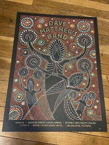 Dave Matthews Band Poster 2014 Australia Sidney Melbourne AP Mint  Rare!