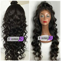 Queen 100% Remy Human Hair Long Beauty Body Wave Lace Front/Full Lace Wig