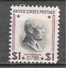 T&G STAMPS -US # 832 $1 Woodrow Wilson 1938 Used  (Free Ship Offer)