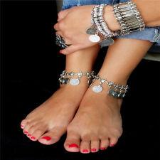 Retro Coins Fashion Women Ankle Chain Anklet Bracelet Foot Sandal Barefoot Beach