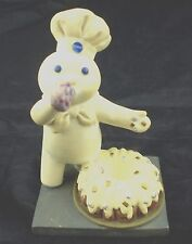 Pillsbury Doughboy Danbury Mint Figurine January Baking 1997 New Year Bundt Cake