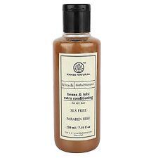 Khadi Herbal Henaa Tulsi Extra Conditioning Shampoo 210ml SLS & Paraben