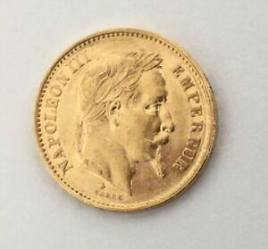 Pièce 20 Francs Or Napoléon III tête laurée 1866