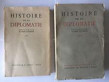 LOT 2 HISTOIRE DE LA DIPLOMATIE VOL 2 ET 3 1965 VLADIMIR POTIEMKINE GUERRE