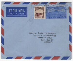 1950 Dec 3rd. Air Mail. Lahore to Berlin, Germany.
