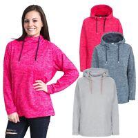 Trespass Stumble Womens Pink Grey Fleece Hoodie Hiking Camping Jumper