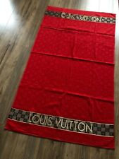Louis Vuitton towel, red, new