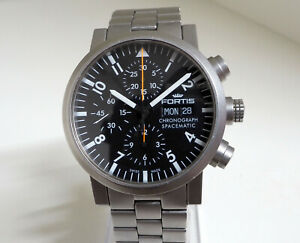 FORTIS Spacematic Chronograph Automatik Stahl/Stahlband, Box/Papiere