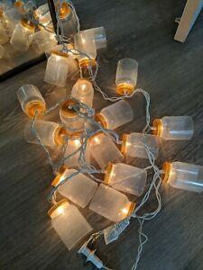 Plastic Mason Jars Jelly Grape String Lights RV Camper Awning Glamping