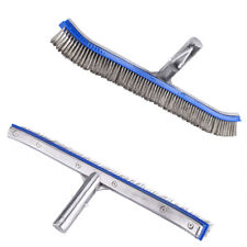Pool Cleaning Brush 18inch Steel Swimming Pool Brush Handheld Bottom Cleaning