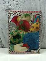 """ACEO Artist Trading Card """"Christmas Decorations"""" Artist Hand Made Glitter"""