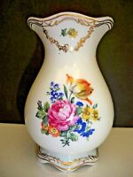 JLMENAU TIROL FLORAL VASE VEB PORCELAIN GERMANY NUMBERED