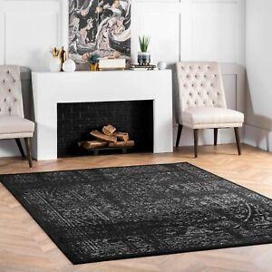nuLOOM Arlena Vintage Area Rug, 5' x 8', Black