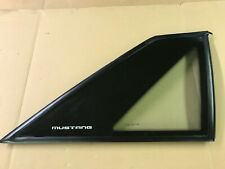 87-93 Ford Mustang Quarter Window Glass Passenger Side HATCHBACK OEM Carlite GT