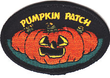 """PUMPKIN PATCH"" - HALLOWEEN - AUTUMN -  SCARY - FUN - IRON ON EMBROIDERED PATCH"