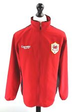 COSWAY CARDIFF CITY Mens Tracksuit Top Track Jacket M Medium Red Poly Football