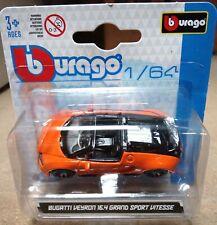 Burago Bugatti Veyron 16.4 Grand Sport Vitesse 1/64 diecast car collection new