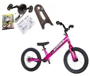 STRIDER 14x Sport 2 in 1 Balance Bike w Pedal Kit Kids Learn To Ride Pre Bike Pk