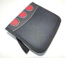 CD-Tasche Nylon schwarz mit rot Tasche für CDs/DVDs - 24 CD TOPGESCHENK
