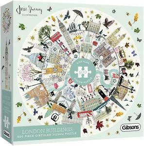 Gibsons Buildings of London Circular Jigsaw Puzzle (500 Pieces)