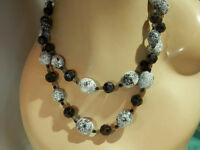 Very Fun Double Strand Fancy Clasp Vintage 60's W. Germany Lucite Necklace 170F8