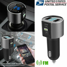 Car Cigar Plug FM Transmitter Wireless Kit MP3 AUX Player Adapter USB Charger