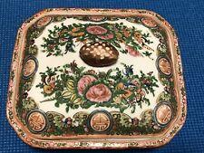 Antique Chinese Export Porcelain Famille Rose Medallion Covered Tureen Bowl.