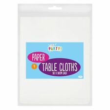 4 X 90cm Square White Paper Table Covers Disposable Easy Clean Dining Party