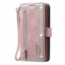 Zipper Wallet Card Slot Leather Case Cover For iPhone 12 11 Pro Max XR SE 8 7 6s