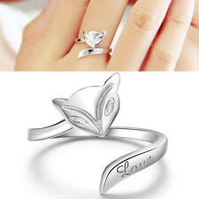1x Silver Plated Lady Finger Rings Opening Adjustable Fox Ring Jewelry PB