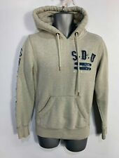 MENS SUPERDRY SMALL GREY JUMPER LONG SLEEVED CREW NECK PULL OVER HOODIE SWEATER