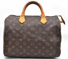 Authentic Louis Vuitton Monogram Speedy 30 Hand Bag M41526 LV A2945